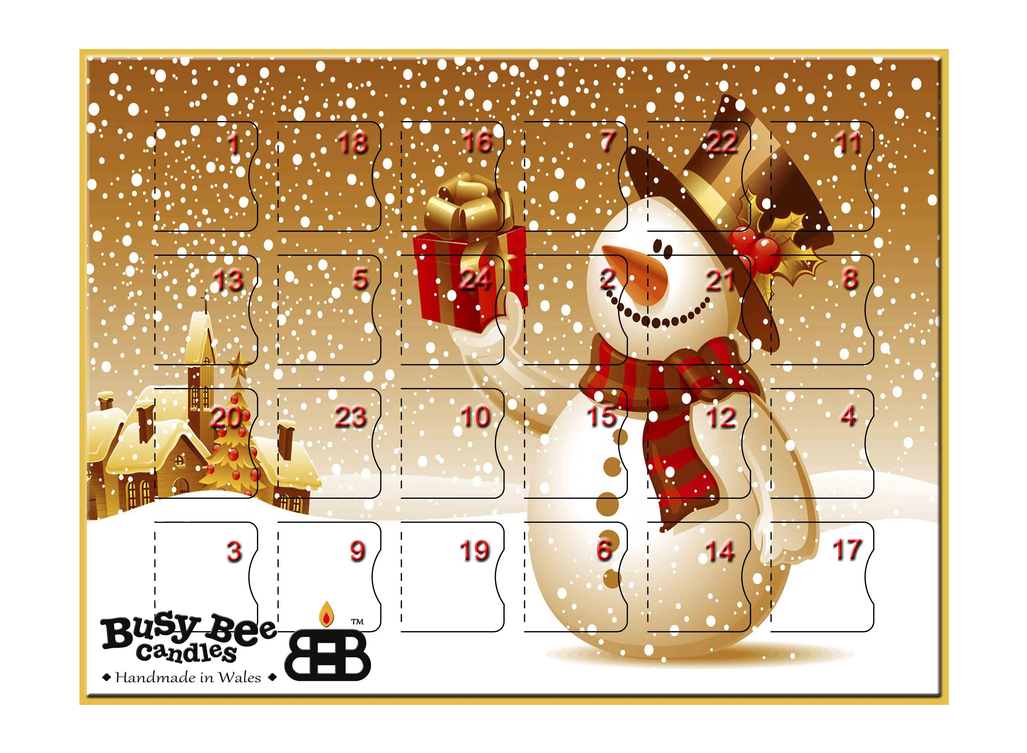 Christmas Calendar 2016 : Scented advent calendar from busy bee candles christmas