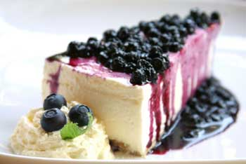 Blueberry Cheesecake Large Candle