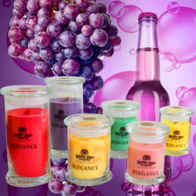 Grape Bubbles Small Elegance Scented Candle