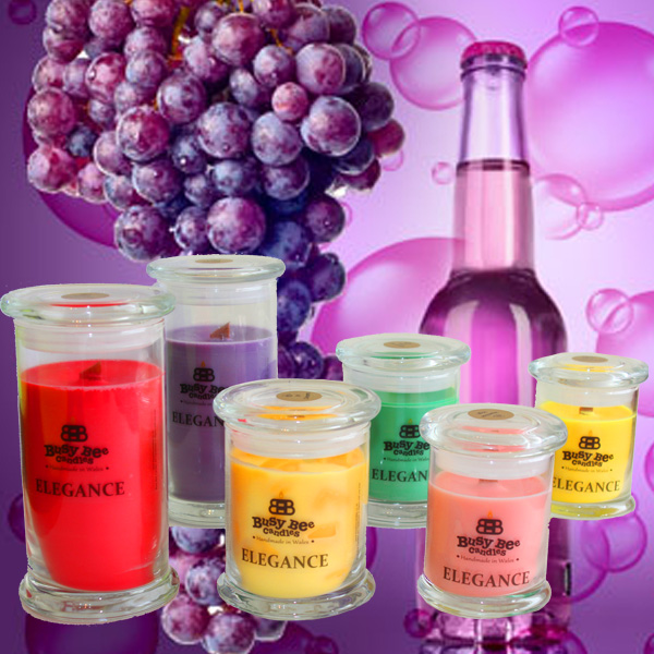 Grape Bubbles Medium Elegance Scented Candle
