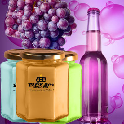 Grape Bubbles Large Scented Candle