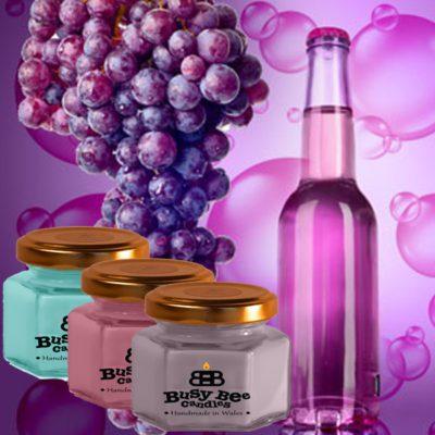 Grape Bubbles Small Scented Candle