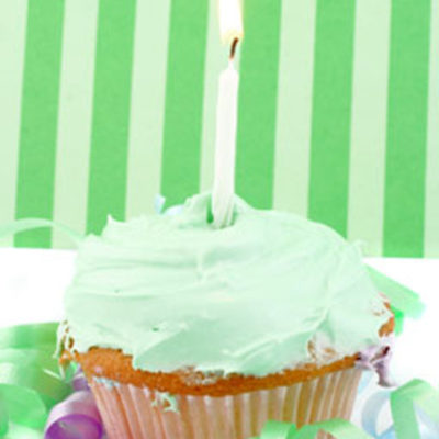 Lime Cupcake Small Elegance Candle