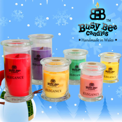 Snow Flakes Medium Elegance Candle