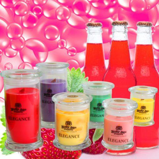 Strawberry Pop Medium Elegance Scented Candle