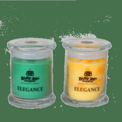 Midnight Peppermint Medium Elegance Candle