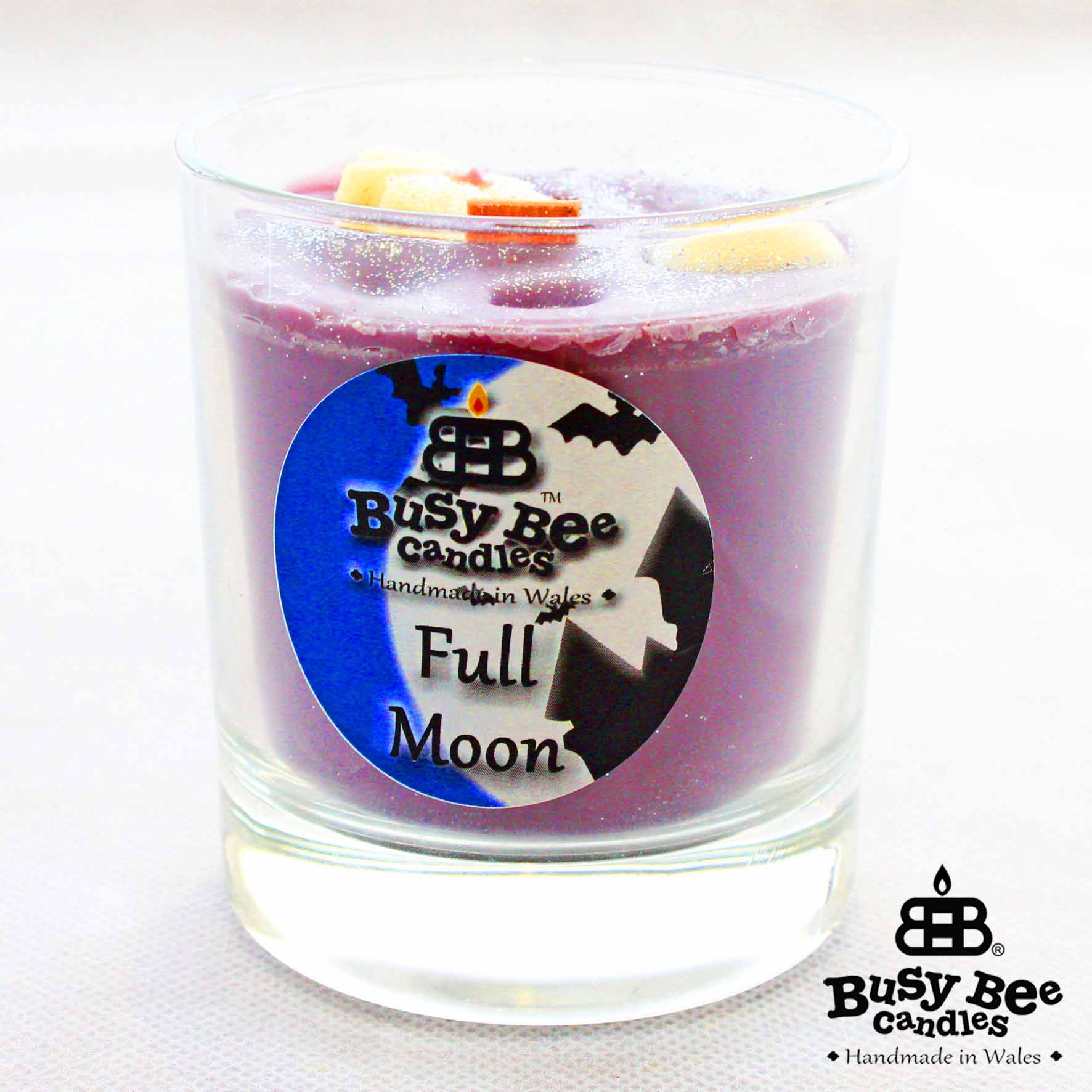 Full Moon Halloween Crackling Wick Scented Candle
