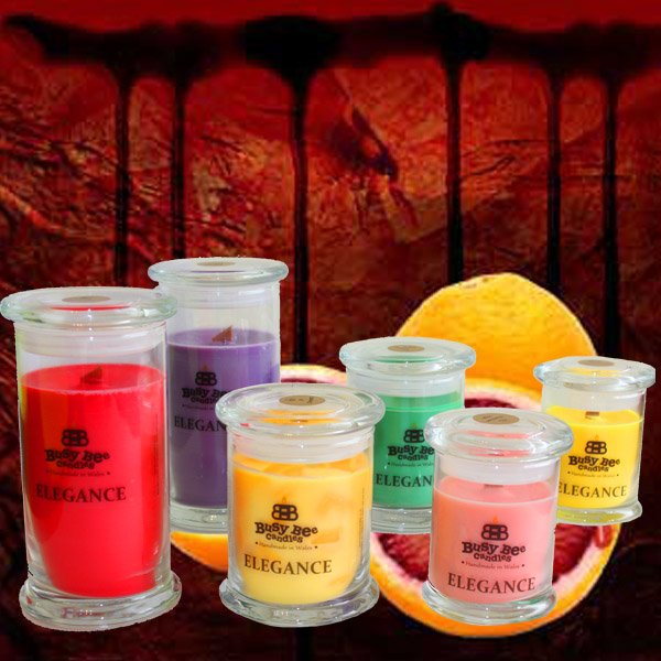 Blood Orange Elegance Candles