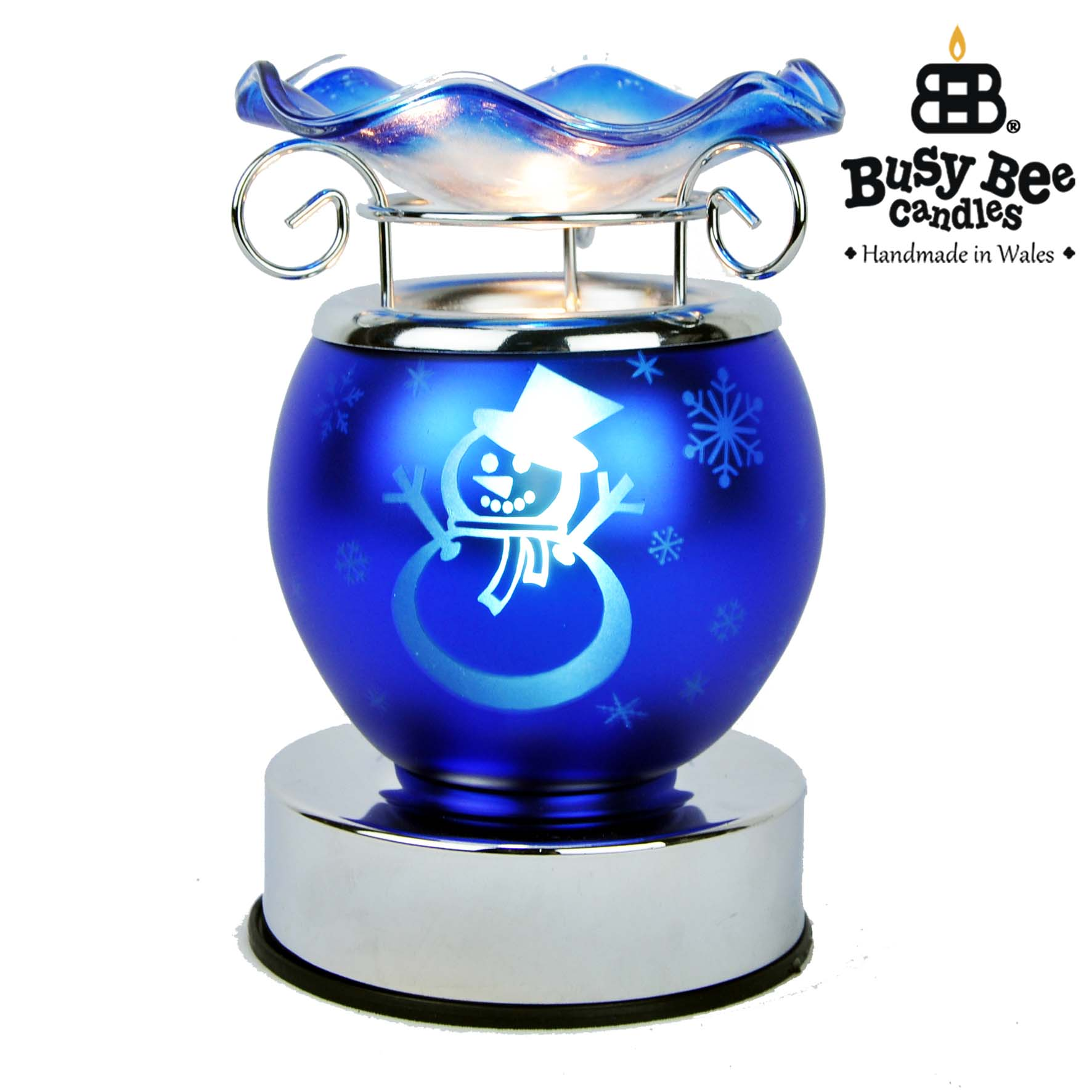 Blue Christmas Electric Wax Tart Warmer
