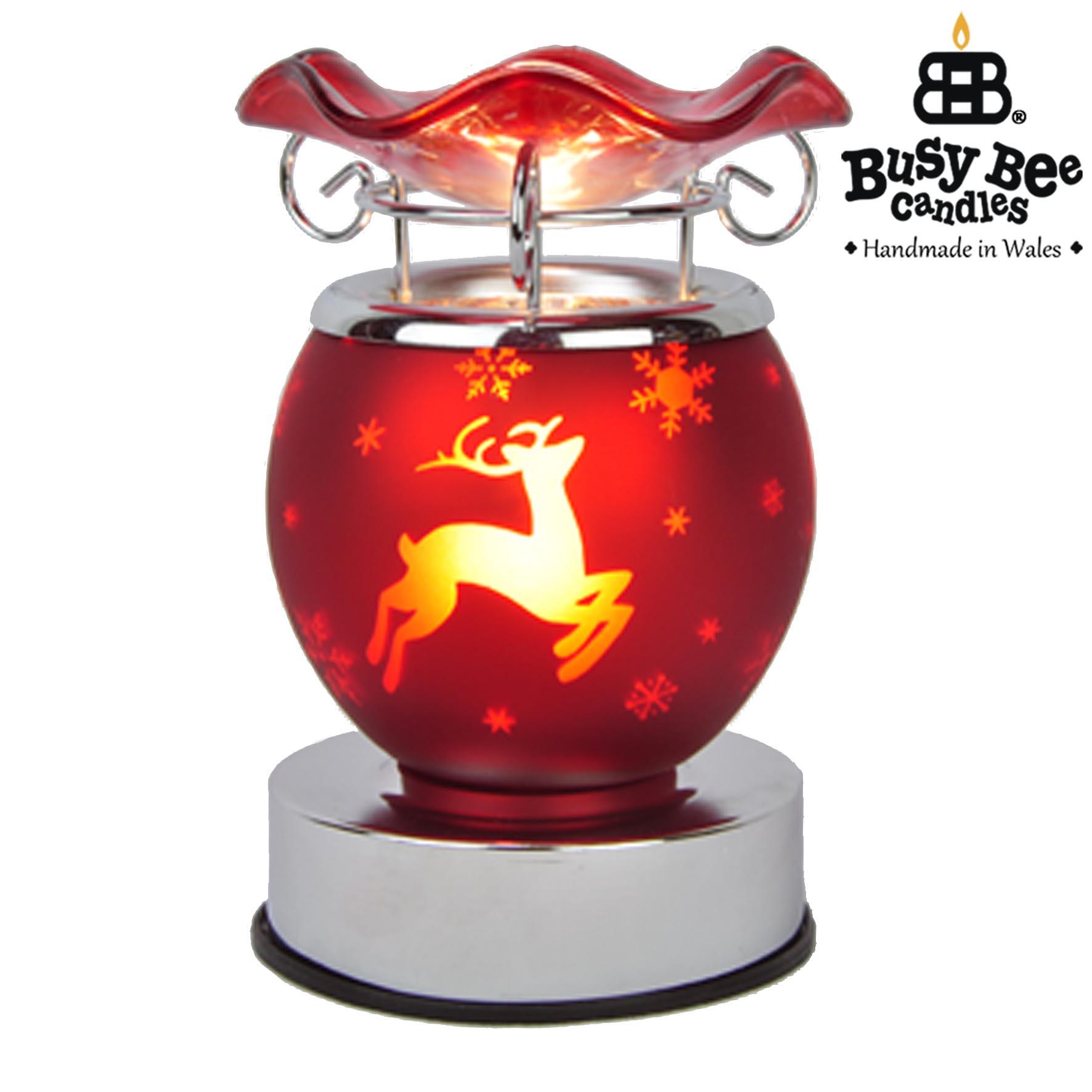 Red Christmas Electric Wax Tart Warmer