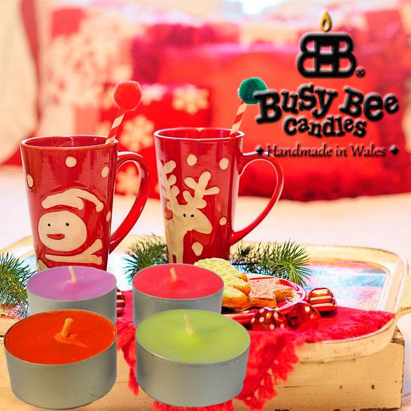 Cozy Christmas Scented Tea Lights