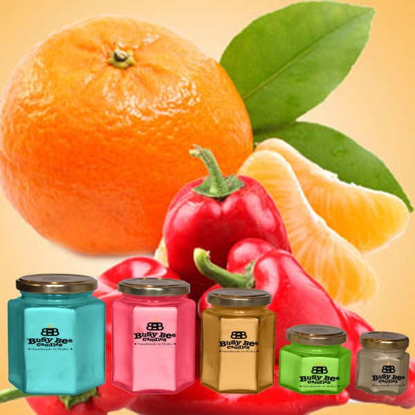 Hot Orange Candles