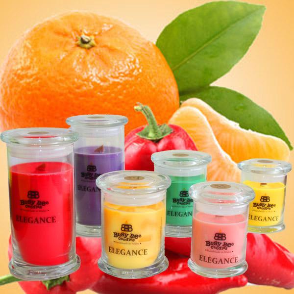 Hot Orange Elegance Candles