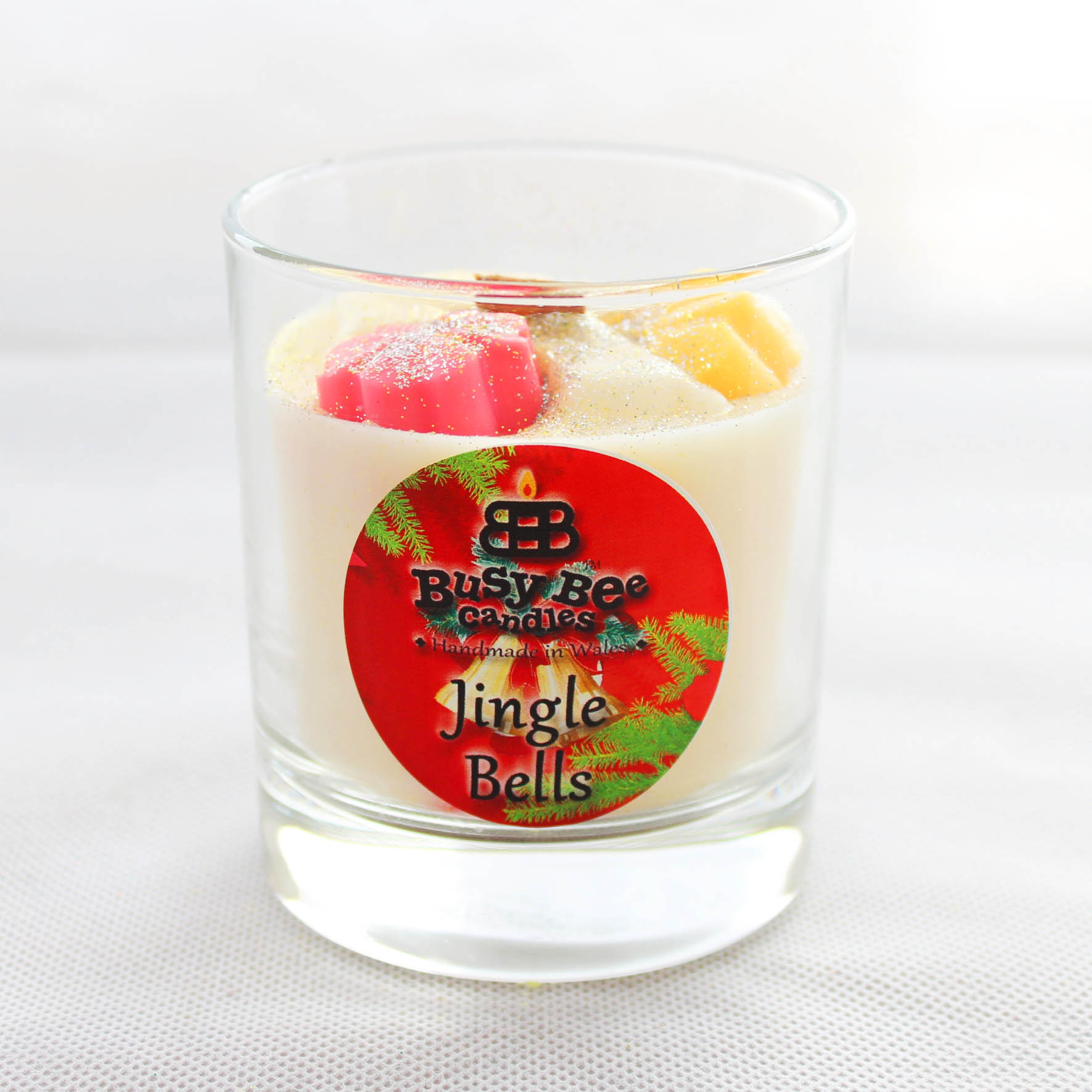 Jingle Bells Christmas Crackling Wick Scented Candle