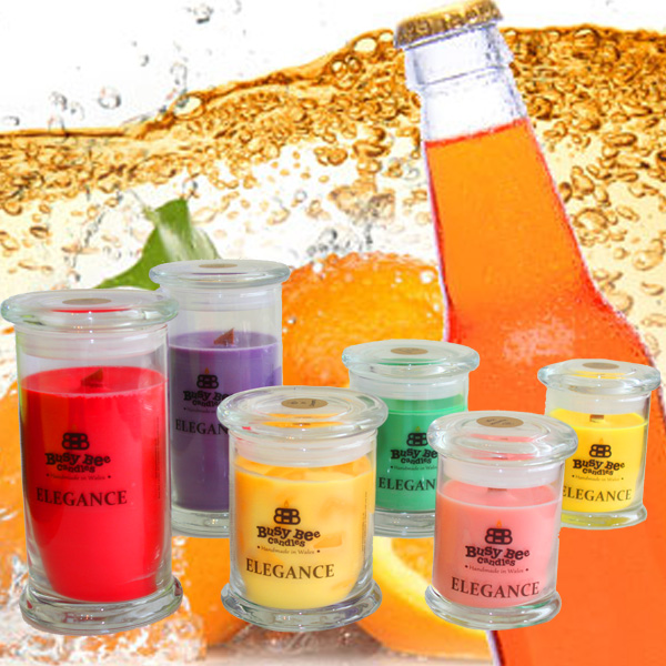 Orange Pop Elegance Scented Candles Collection
