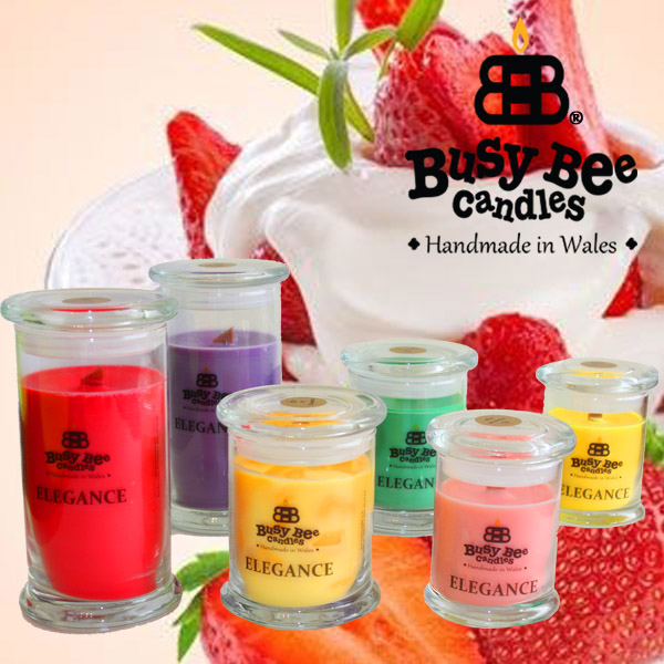 Strawberries And Cream Elegance Scented Candles