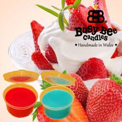 Strawberries And Cream Wax Tart