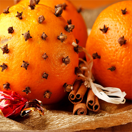 Christmas Orange Elegance Candles