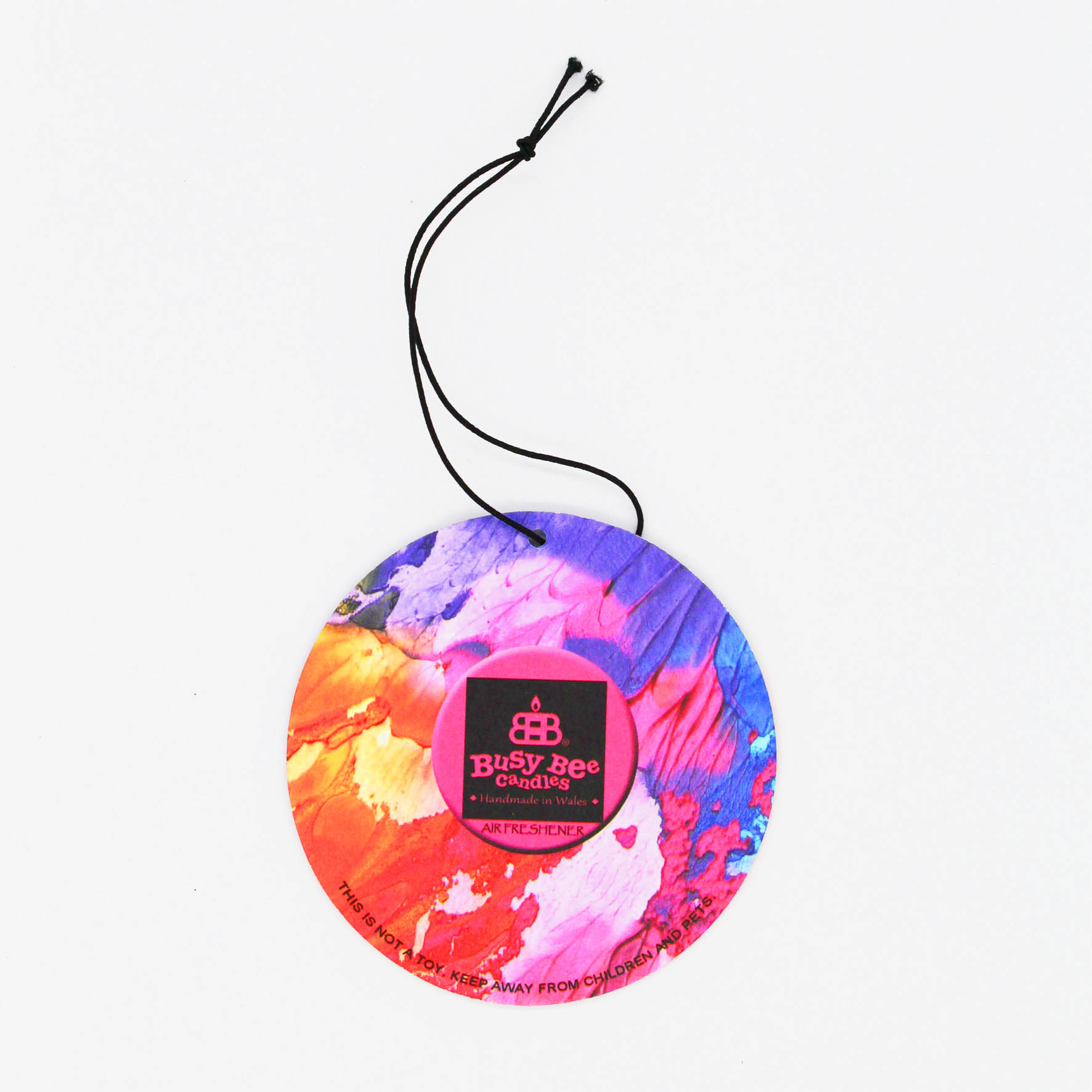 Pink Sunset Hanging Air Freshener