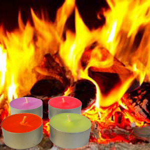 Crackling Fire Tea Lights