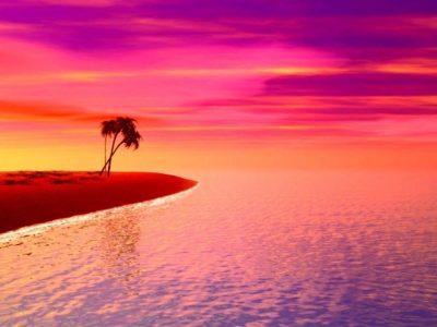 Pink Sunset Tea Light