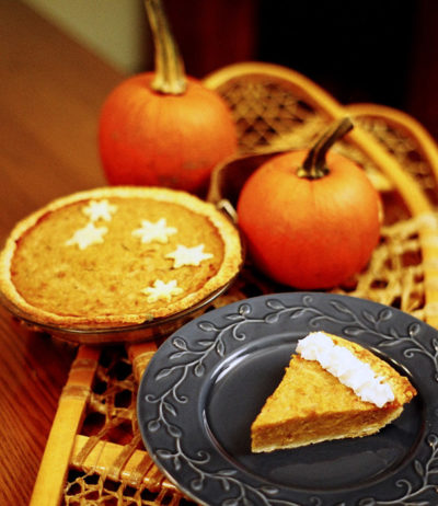 Pumpkin Pie Large Candle