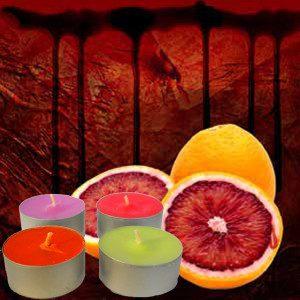 Blood Orange Tea lights