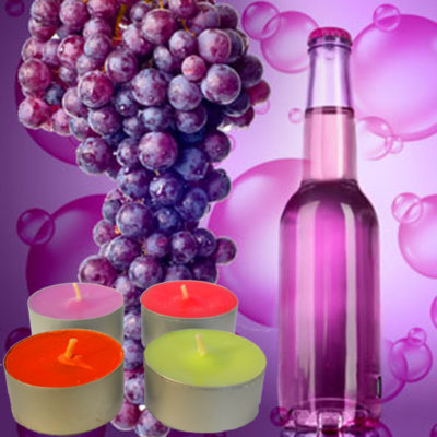 Grape Bubbles Tea Light Scented Candles
