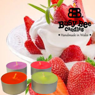 Strawberries And Cream Tea Light Scented Candles